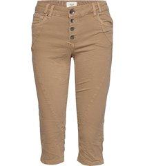pzrosita pants trousers capri trousers beige pulz jeans