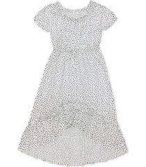 style & co petite printed asymmetrical tie-front dress, created for macy's
