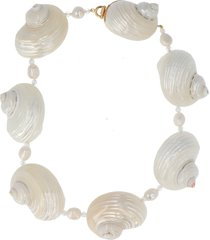 prada shell pearl necklace