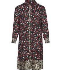 mfreja, l/s, shirt jurk knielengte multi/patroon zizzi