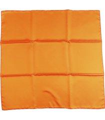 hermes silk scarf orange sz: