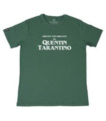 camiseta masculina quentin tarantino - g - amarelo verde
