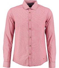 petrol fire red slim fit overhemd