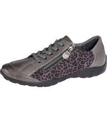 skor med snörning naturläufer grå