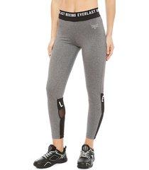 legging everlast long boxing gris - calce ajustado