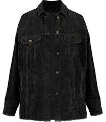 corduroy jacket zwart