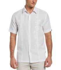cubavera men's paisley panel shirt