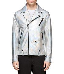 fenton hologram leather moto jacket
