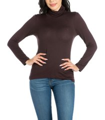 women's classic long sleeve turtleneck top