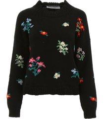 philosophy di lorenzo serafini pullover with floral intarsia