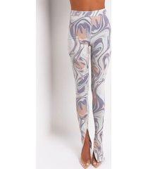 akira candy crush swirl print ribbed legging
