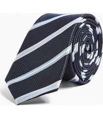 mens navy stripe tie