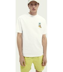 scotch & soda graphic organic cotton t-shirt