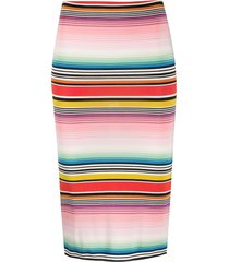 missoni mare stripe fitted skirt - pink