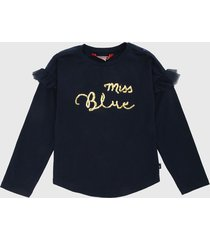 camiseta manga larga azul oscuro-dorado  boboli