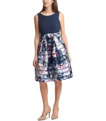 jessica howard belted pleated dress