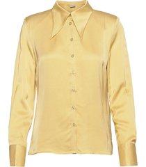 jerlegz shirt overhemd met lange mouwen beige gestuz
