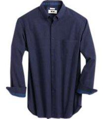 joseph abboud navy houndstooth cotton & cashmere classic fit sport shirt