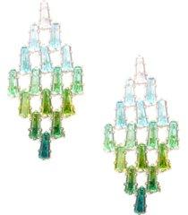 ombre crystal spade drop earring