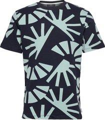 short sleeve signature jacquard tee t-shirts short-sleeved blå scotch & soda