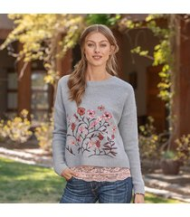 floral embrace sweater