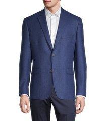 saks fifth avenue men's standard-fit wool & cashmere-blend blazer - blue - size 40 r