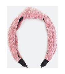 tiara larga com nó em chenille | accessories | rosa | u