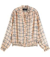 blouse feminine bruin