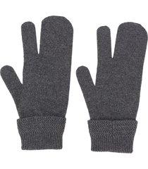 maison margiela tree-finger glove - grey