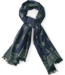 floral jacquard scarf