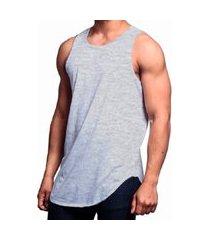 camiseta regata longline swag masculina vcstilo - cinza - p cinza