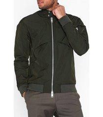 krakatau memory fabric harrington jacket jackor mörk grön