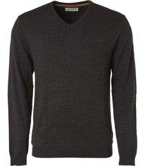 no excess pullover v-neck 2 color dark grey