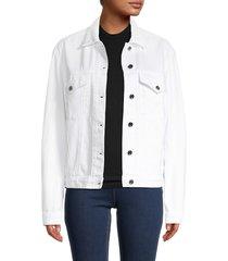 rta women's erika denim jacket - optic white - size xs