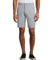 greg norman men's solid tech shorts - black - size 38