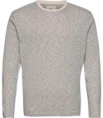 fine stripe ls tee t-shirts long-sleeved grå folk