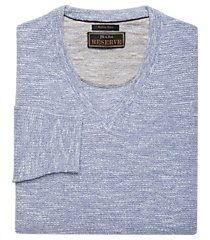 reserve collection v-neck italian cotton & linen yarn men's sweater clearance