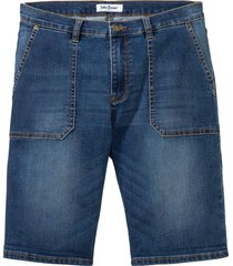 jeansbermudas i multistretch, normal passform