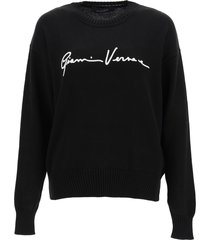 versace sweater with gv signature embroidery