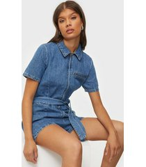 only onlmilu life ss dnm jumpsuit york playsuits