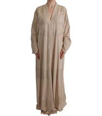 applique lace kaftan dress