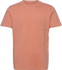 organic cotton pocket t-shirt t-shirts short-sleeved orange gap