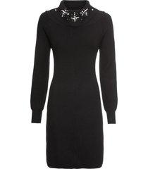 abito in maglia con applicazioni (nero) - bodyflirt