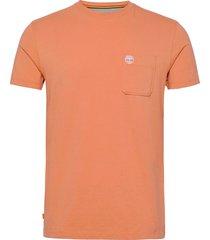 ss dun-riv pocket t t-shirts short-sleeved orange timberland