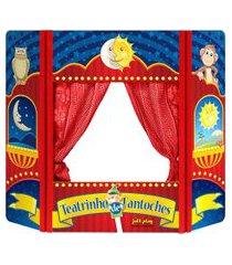teatro de fantoche jottplay dobrável com cortinas móveis 65x80cm colorido