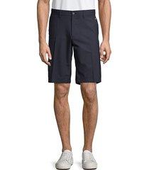 j.lindberg men's flat-front shorts - white - size 38