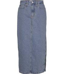 maxi skirt knälång kjol blå calvin klein jeans