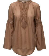 atmosphere l/s blouse blouse lange mouwen bruin odd molly