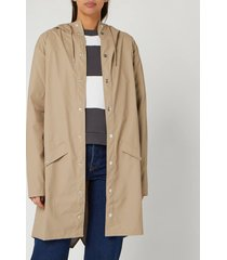 rains women's long jacket - beige - s/m