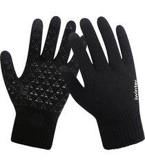 guanti da uomo guanti invernali a maglia con schermo tattile guanti da dito pieno caldi antiscivolo